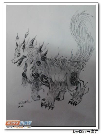 卡布手绘—天狗