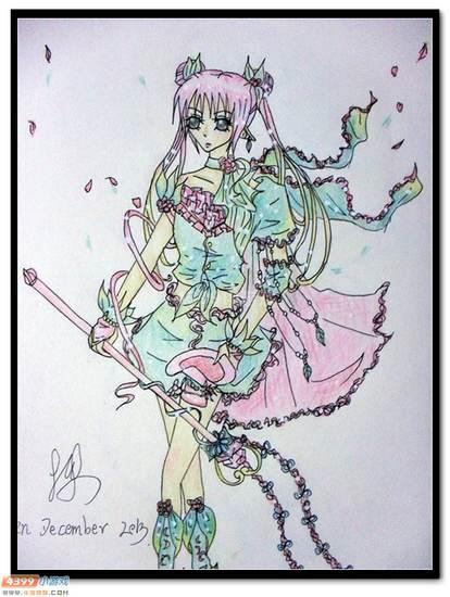 赛尔号手绘 花仙子哈德萨