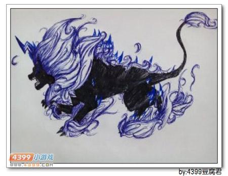 卡布手绘—地狱狮王