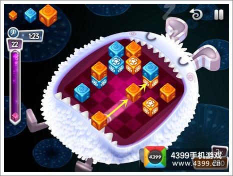 方块生物推击玩法