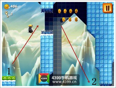 企鹅大冒险挑战关卡2怎么过