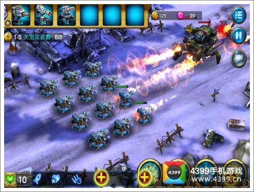 4399手机游戏网 二战塔防3d