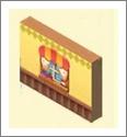 魔法宝贝有窗户的黄色墙壁