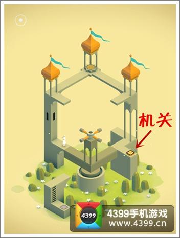 纪念碑谷第二章攻略机关位置