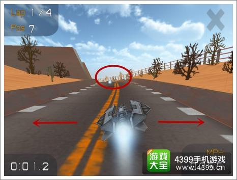 游戏操作  超音速飞行采用重力感应控制游戏操作