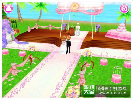 可可婚礼海边草坪婚礼图片