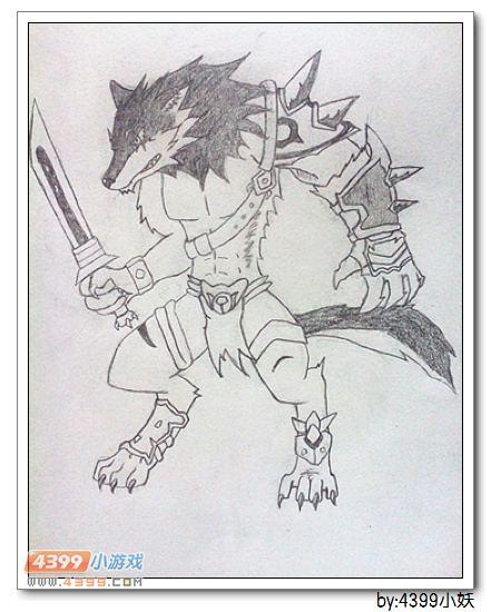 卡布手绘—暗月狼将的战友_4399卡布西游
