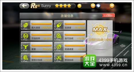 天天飞车sunny