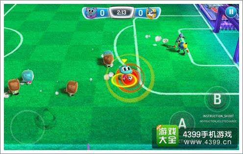 而是采用5人室内足球的模式,在整个比赛的过程中也没有犯规与出界的