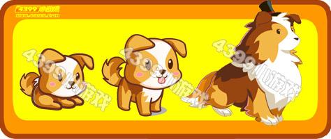 奥比岛绅士小花犬