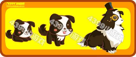 奥比岛绅士小黑犬