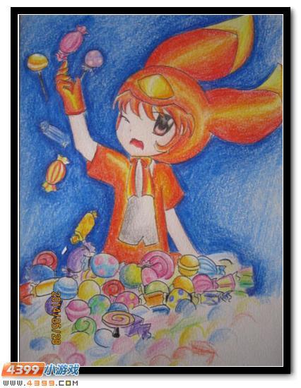 赛尔号手绘 米咔的糖果世界