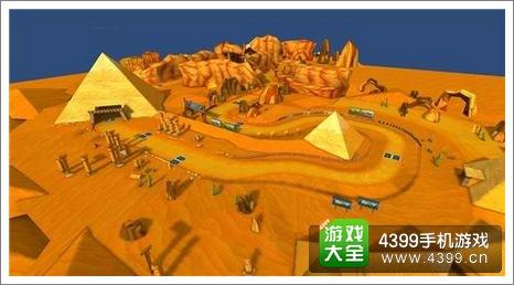 跑跑卡丁车手机版沙漠地图