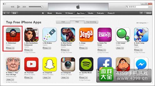 App Stroe排行榜截图