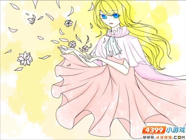 小花仙绘画第55期 风中女孩
