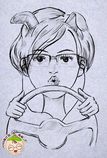 素描人物长头发怎么画分享展示