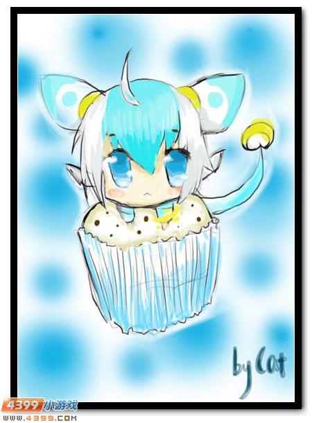 手绘纸杯蛋糕 纸杯蛋糕海报手绘 纸杯蛋糕