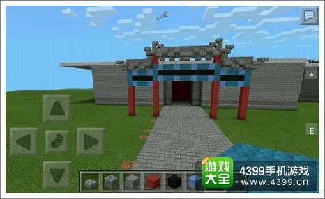 我的世界建筑教程 中式牌坊入门图片