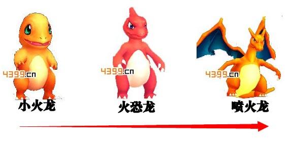 口袋妖怪小火龙进化流程详解