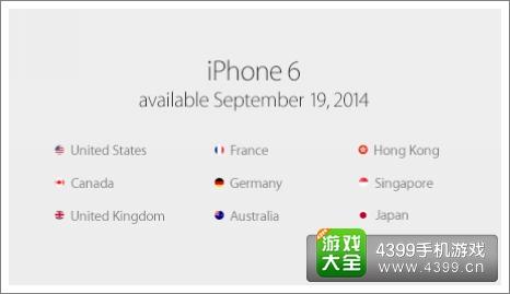 iphone6上市地区