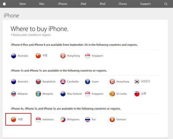 iphone6中国大陆上市时间