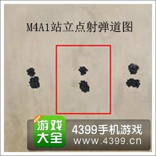 全民枪战2(枪友嘉年华)M4A1弹道图