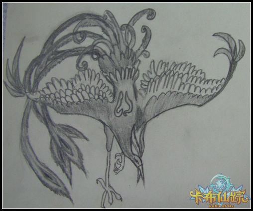 儿童素描简笔画 凤凰