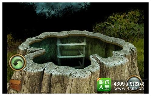 恐怖庄园的秘密木墩洞口