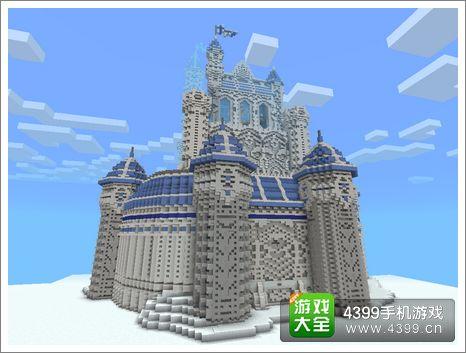 我的世界作品展示 冰雪城堡