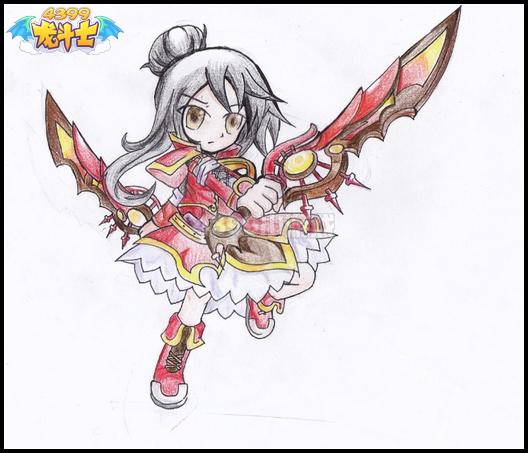 龙斗士手绘女魔剑