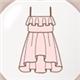 藕粉吊带裙
