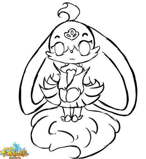 画的小兔好看点可爱