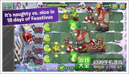植物大战僵尸2国际版圣诞节更新 植物也有圣诞节