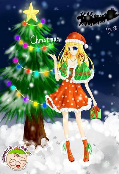 圣诞河图-4399茜羽