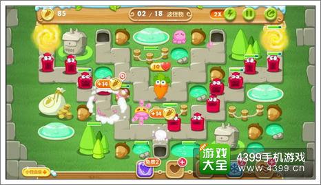 保卫萝卜2游戏关卡图