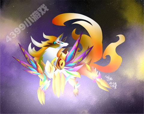 奥拉星炎帝壁纸 奥拉星炎帝图片 奥拉星最帅亚比图片