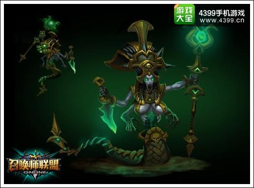《召唤师联盟》四大精英BOSS之诅咒蛇女
