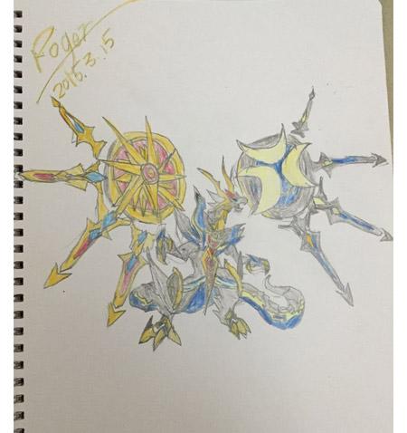 精灵手绘---霸气圣耀时空龙