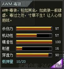 4399创世兵魂AWM-毒狼属性 多少钱