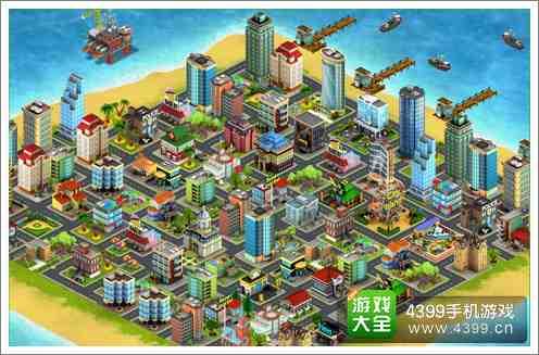 卡通城市平面图