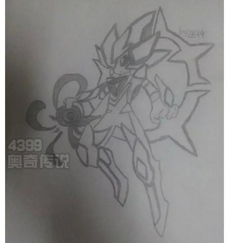 精灵手绘---素描诺亚_4399奥奇传说手机版