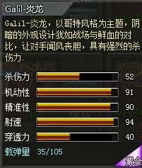 4399创世兵魂Galil-炎龙属性 多少钱