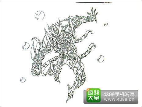 铠甲勇士拿瓦煞形态 超写实版风格绘画