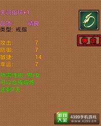 弹射王天羽指环+1