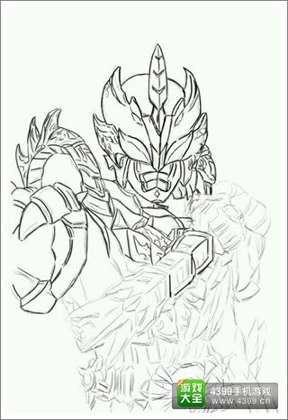 铠甲勇士之英雄传说风鹰侠板绘 玩家板绘作品