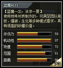 4399创世兵魂蓝魔利刃属性 多少钱