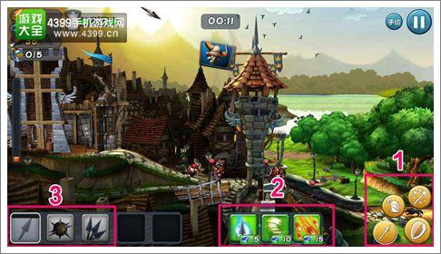 城堡风暴战斗界面