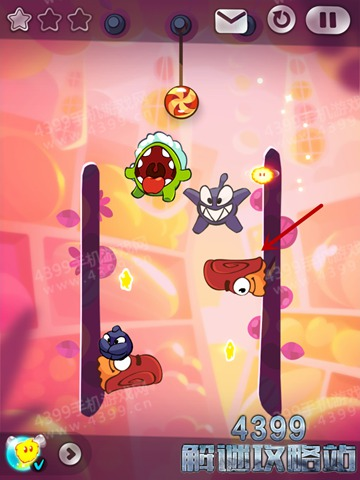 割绳子2水果城堡6-28攻略