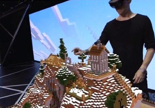 【E3微软】用虚拟现实玩MC是什么感觉?