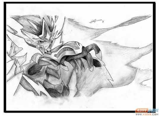 魔神世纪手绘 霸气的邪洛基